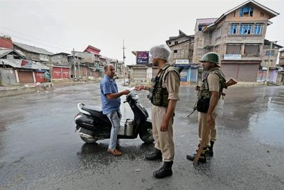 In Kashmir, it's easier to go past security than youngsters with sticks and Molotovs