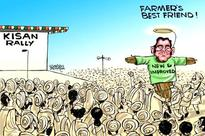 Live: Rahul meets farmers before Sunday's mega rally