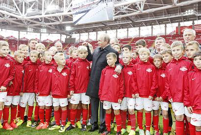 Putin opens 2018 World Cup Stadium in Moscow