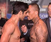 Vijender Singh Confronts Matiouze Royer During Official Weigh-In