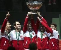 Federer Wawrinka fire Switzerland to Davis Cup victory