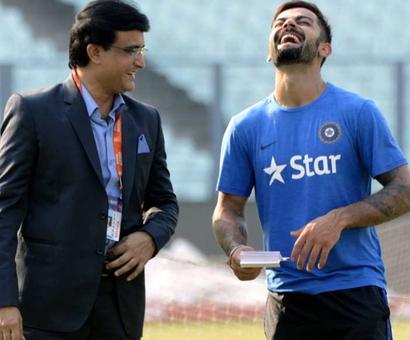 Ganguly on whether Kohli can break Tendulkar's century record