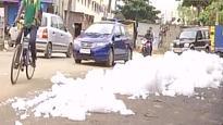 Watch: Bengaluru's Bellandur lake spills toxic foam yet again