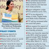 Policy prop to double exports