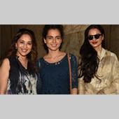 Rekha & Madhuri Dixit Watch Tanu Weds Manu Returns Event Pictures