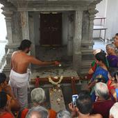 Devotees offer chocolates to deity in Kerala temple