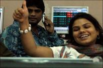 Sensex retreats after sailing past 22,000 in early trade
