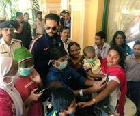 Yuvraj spends time with children afflicted with cancer, autism