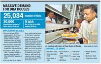 Long queues in Delhi for DDA flats, chaos hits mega offer
