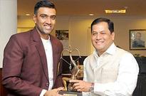 Indian spinner Ravichandran Ashwin receives Arjuna Award