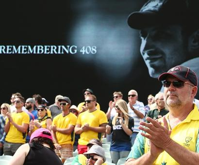 PHOTOS: Fans, players pay tribute to Phillip Hughes #63notout