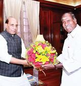 CM talks Statehood with Rajnath Singh