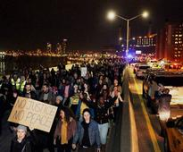 Michael Brown shooting: Ferguson hope for calm night after cleaning up