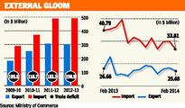 Despite drop in exports, trade deficit narrows in February