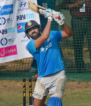 Mohali ODI: Raina ruled out; Rohit spends considerable time at nets