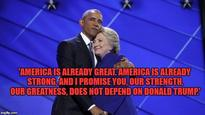 'There has never been a man or woman more qualified than Hillary to be president of USA': Top 11 Obama quotes from DNC