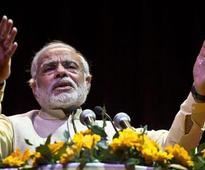 Narendra Modi halts Varanasi on nomination day; Congress demands FIR