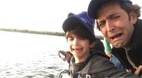 Hrithik Roshan takes sons  Hrehaan and Hredaan crocodile hunting