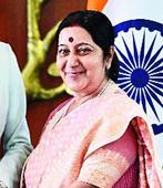 Sushma thanks Singh on land boundary bill