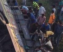 13 killed, 53 injured as bus falls into dry rivulet ..