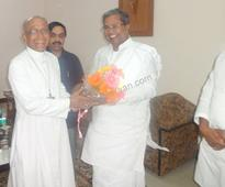 Bangalore: Chief Minister and Home Minister makes Courtesy visit to Archbishop