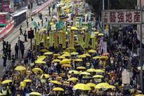 Pro-democracy protesters back in Hong Kong, no violence