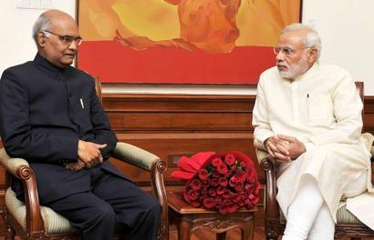 RN Kovind heads to Parliament to file nomination papers before PM