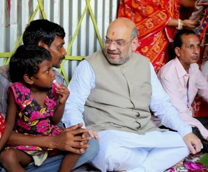 Lotus will bloom, says Shah in Naxalbari